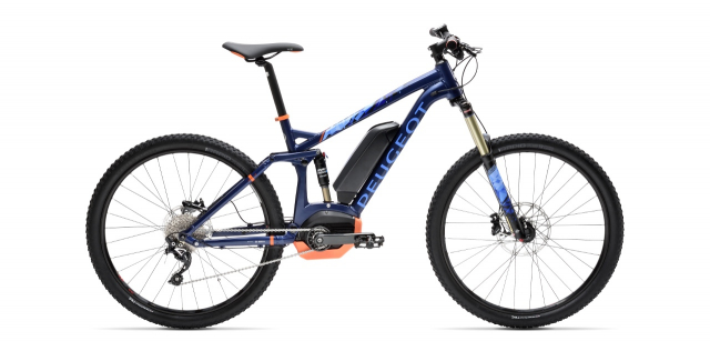 Full suspension electric bike Peugeot eM02 FS SLX 10