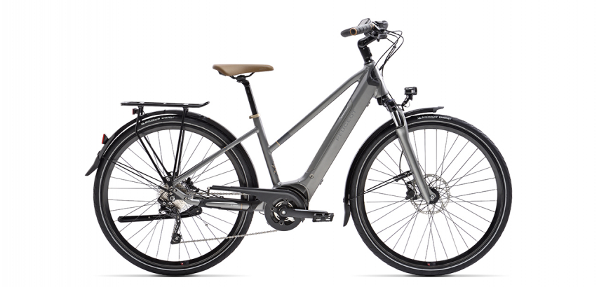 electric trekking bike with integrated battery