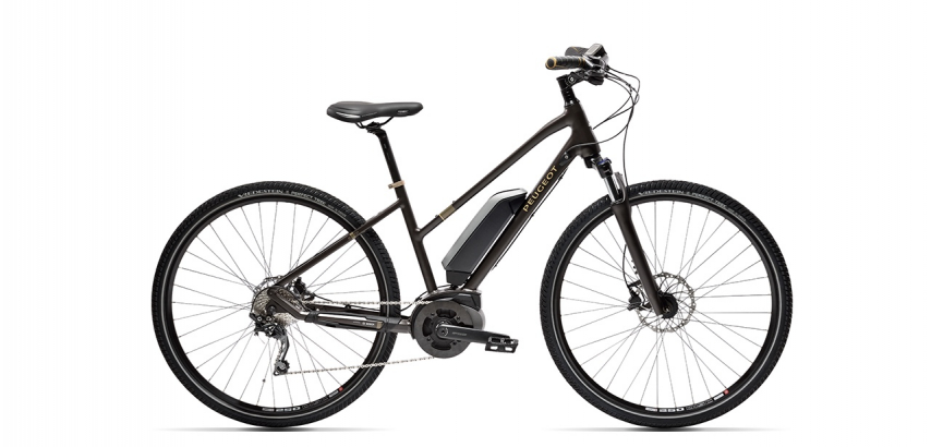 Electric Mixt Black Peugeot Bike eT01 D10 Mixt