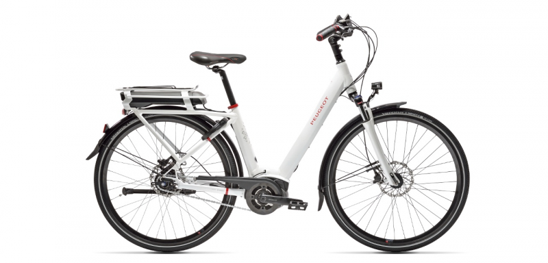 Electric city bikes Peugeot eC01 Nexus 7 disc